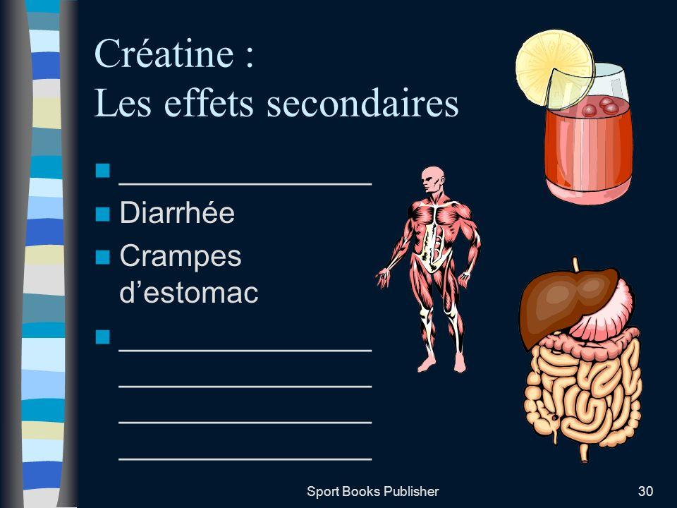 Créatine : Les effets secondaires