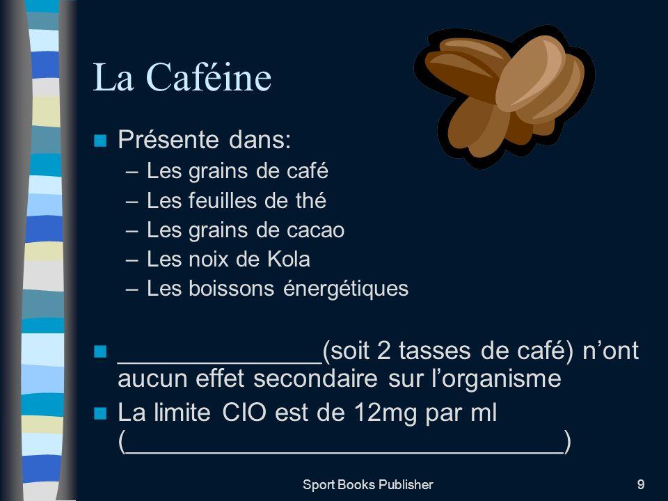 La Caféine Présente dans: