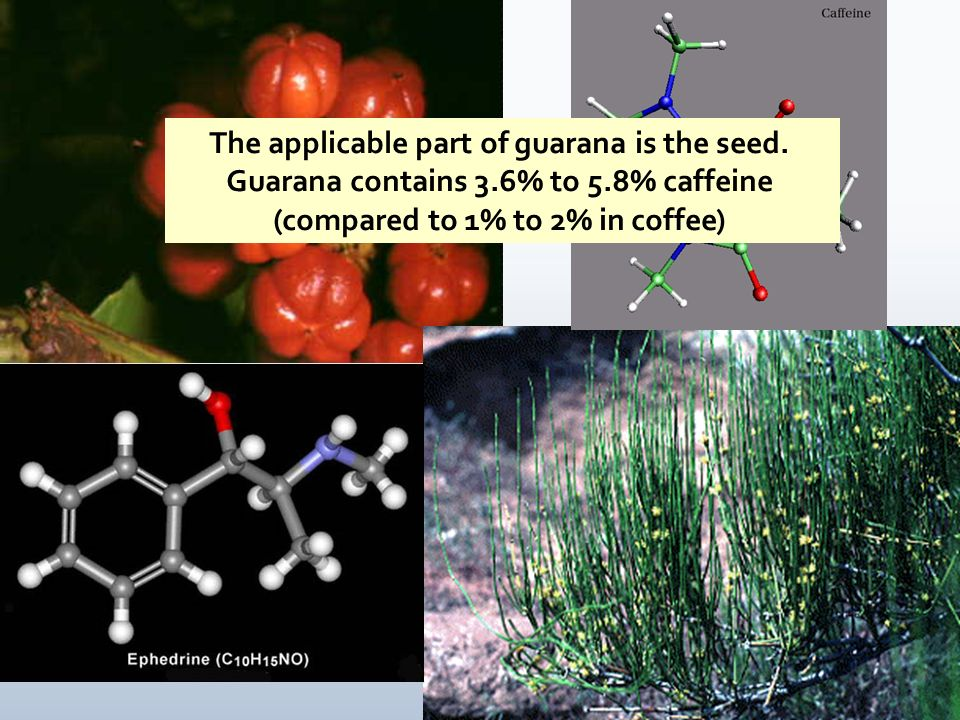 The applicable part of guarana is the seed.