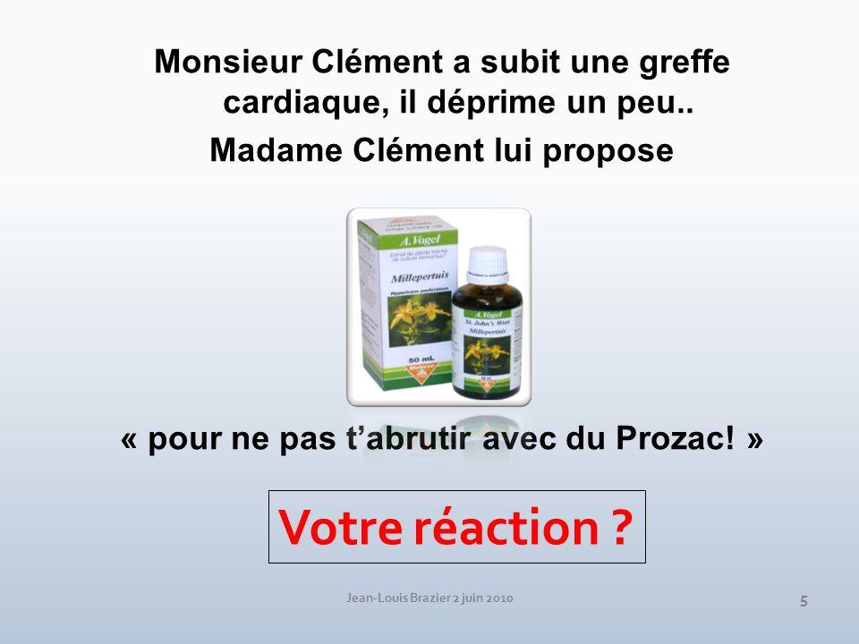 Monsieur Clément a subit une greffe cardiaque, il déprime un peu..