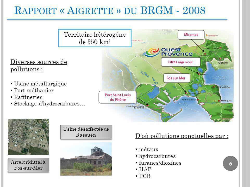 Rapport « Aigrette » du BRGM - 2008