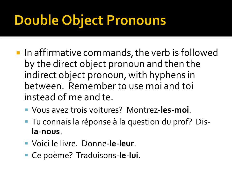Double Object Pronouns