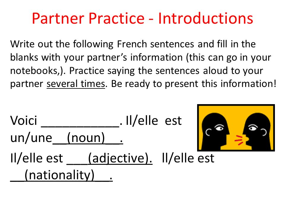 Partner Practice - Introductions
