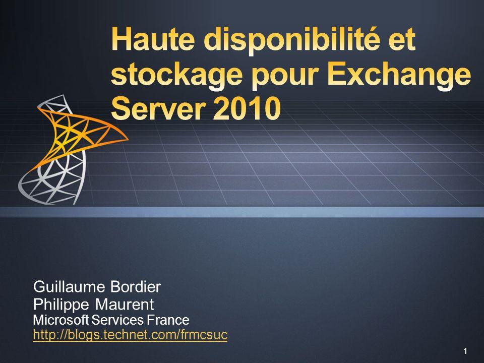 Haute disponibilité et stockage pour Exchange Server 2010