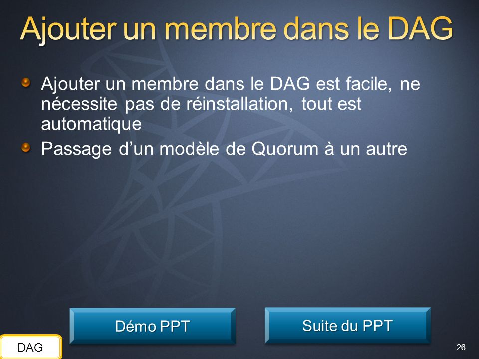 Ajouter un membre dans le DAG