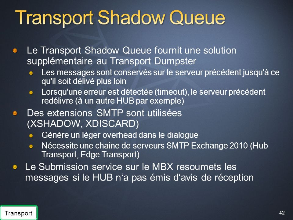 Transport Shadow Queue