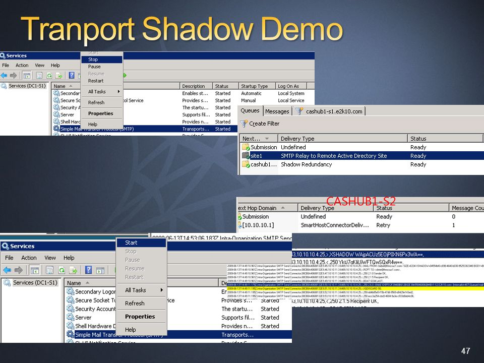 Tranport Shadow Demo