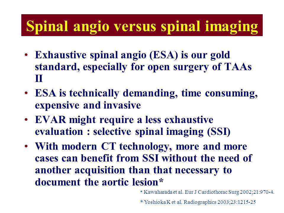 Spinal angio versus spinal imaging