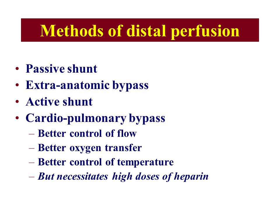 Methods of distal perfusion