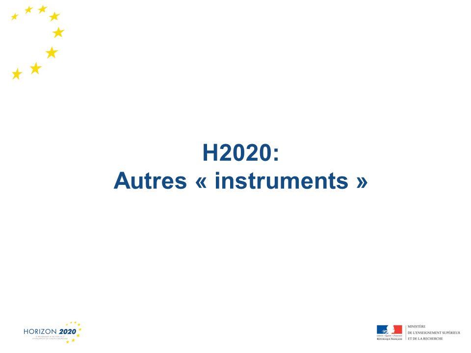H2020: Autres « instruments »