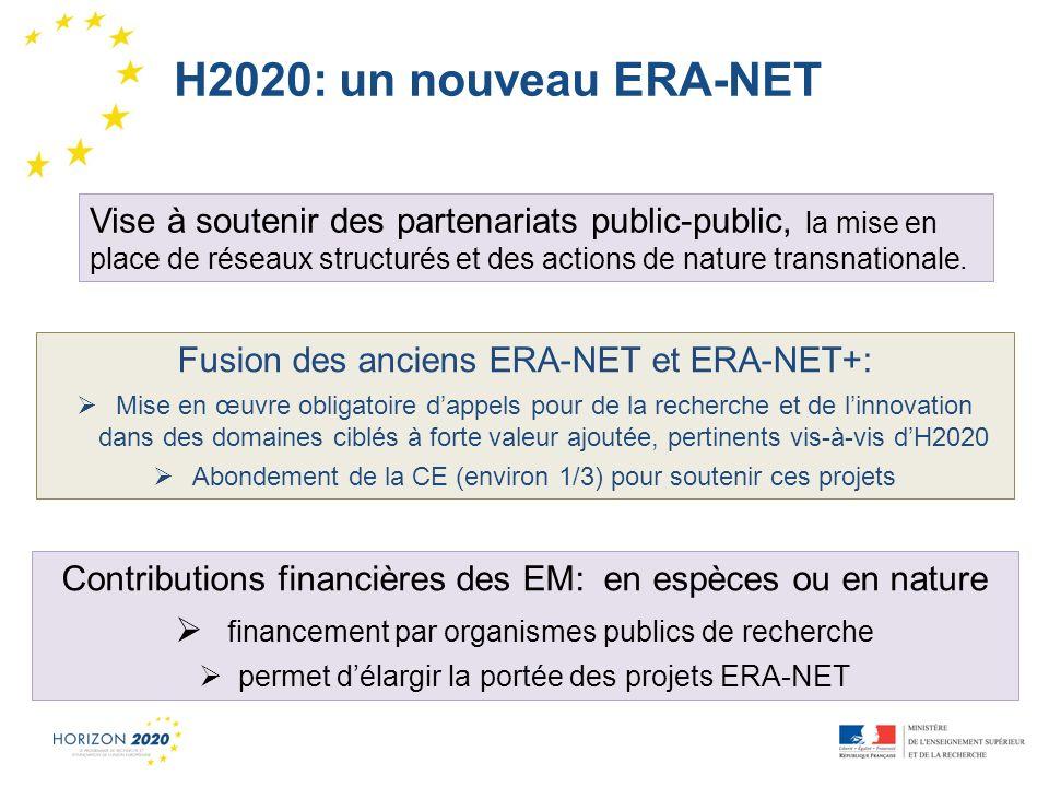 H2020: un nouveau ERA-NET