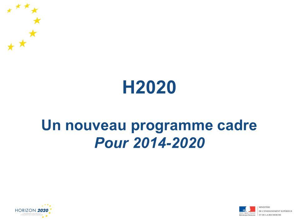 Un nouveau programme cadre