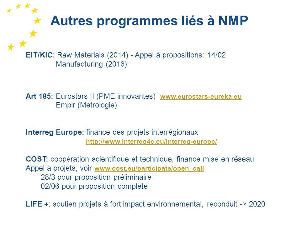 Autres programmes liés à NMP