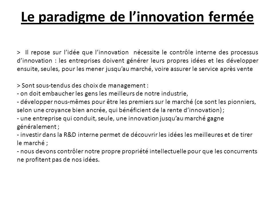 Le paradigme de l'innovation fermée