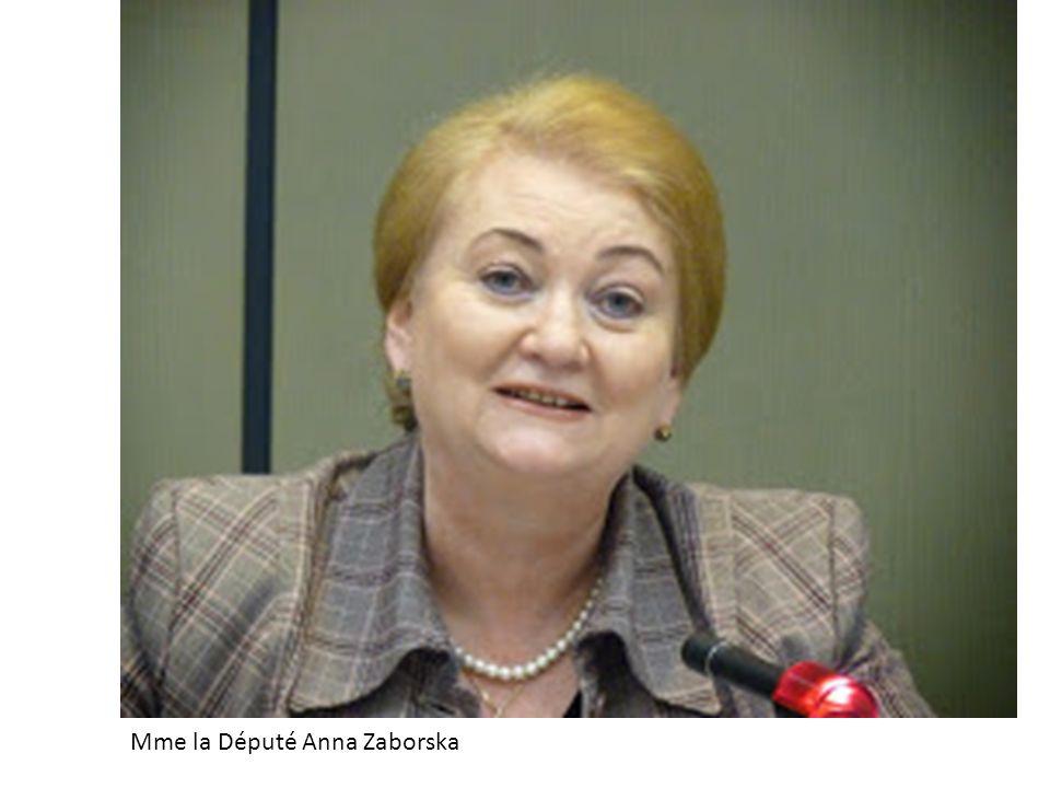 Mme la Député Anna Zaborska