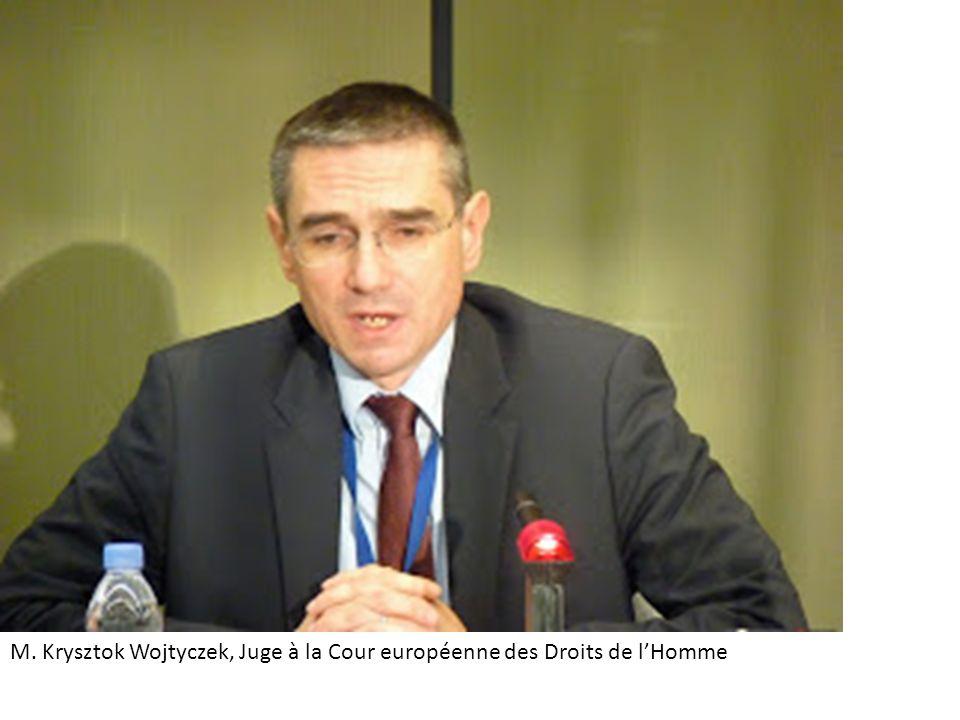 M. Krysztok Wojtyczek, Juge à la Cour européenne des Droits de l'Homme