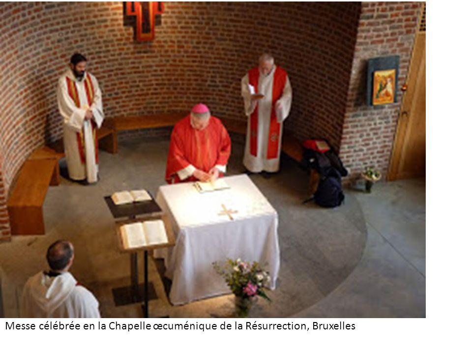 Messe célébrée en la Chapelle œcuménique de la Résurrection, Bruxelles