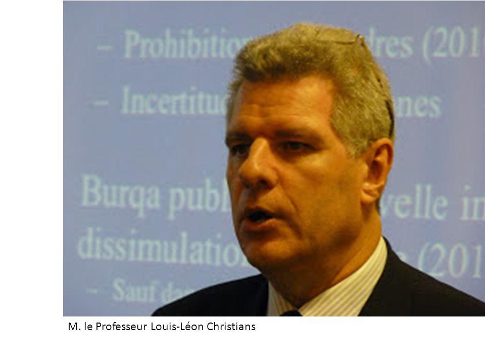 M. le Professeur Louis-Léon Christians