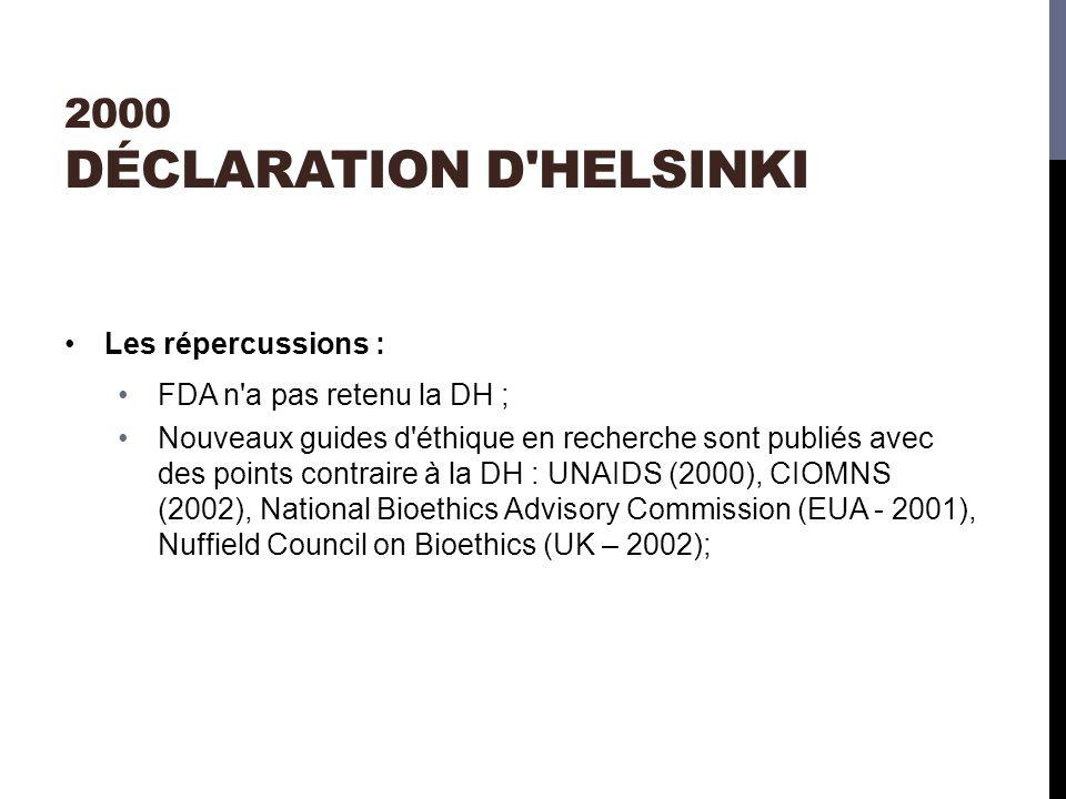 2000 Déclaration d Helsinki
