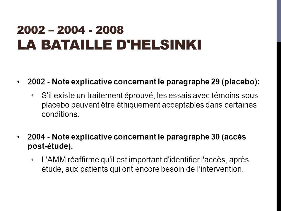 2002 – 2004 - 2008 La bataille d Helsinki