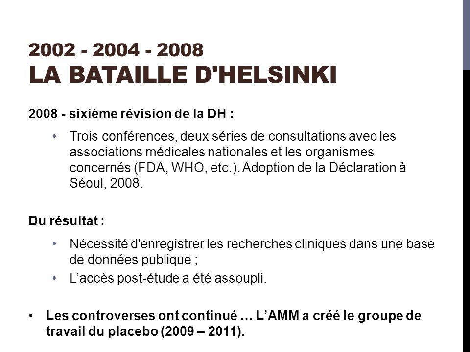 2002 - 2004 - 2008 La bataille d Helsinki