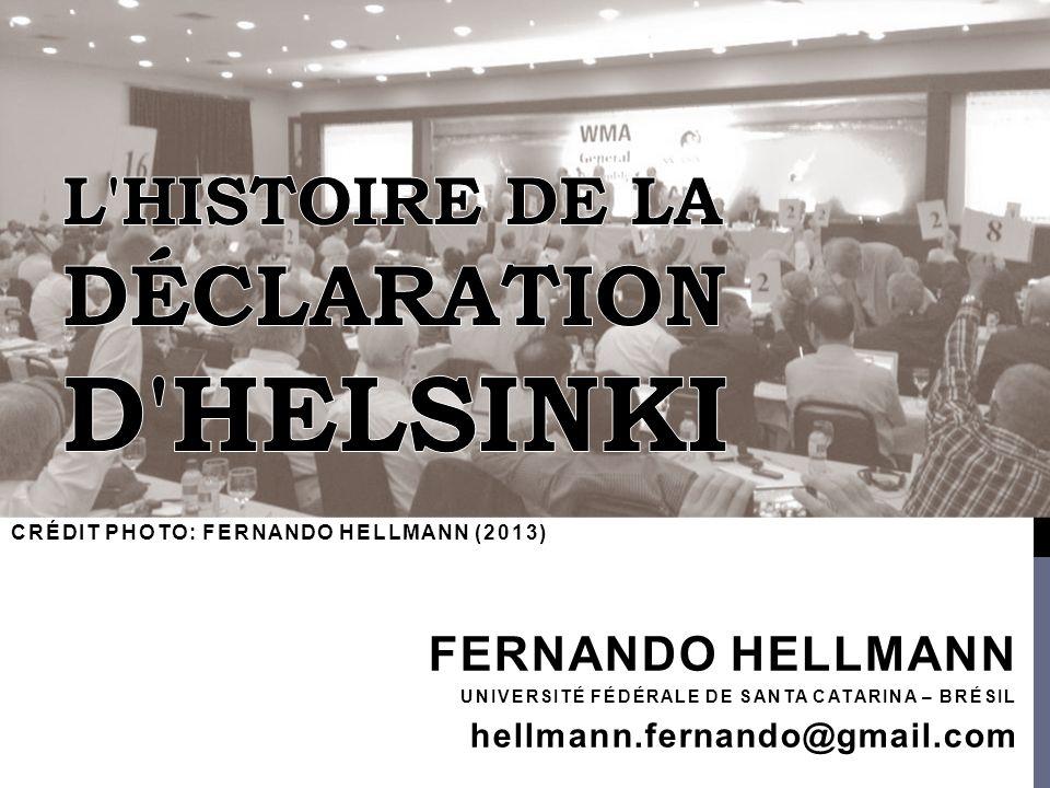 L histoire de la Déclaration d Helsinki