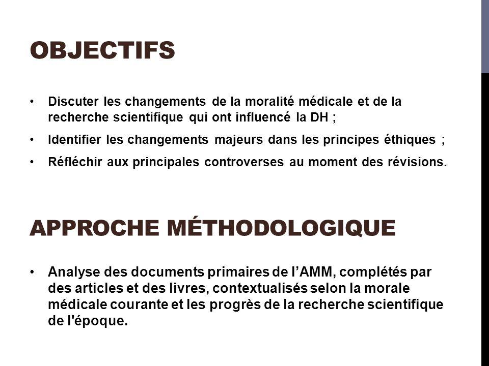 objectifs approche méthodologique