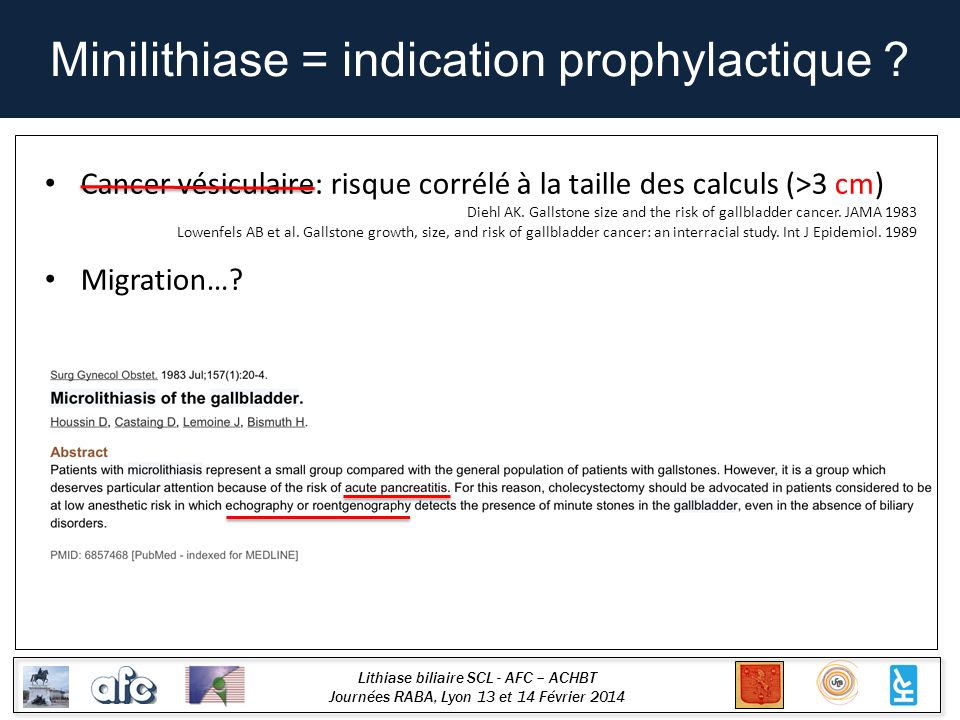 Minilithiase = indication prophylactique