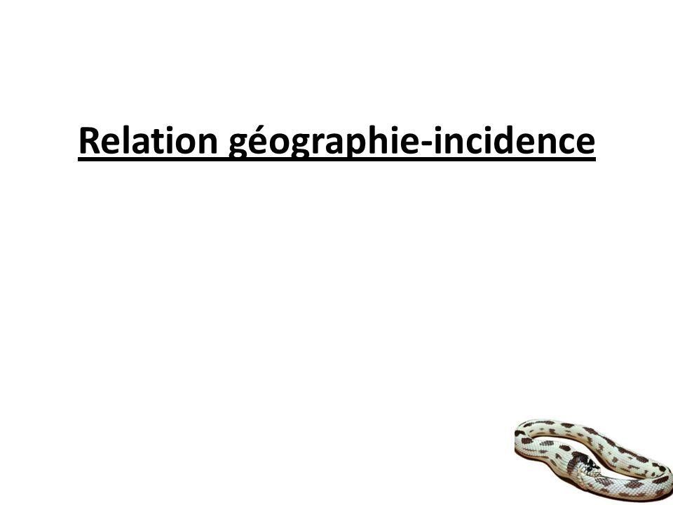 Relation géographie-incidence