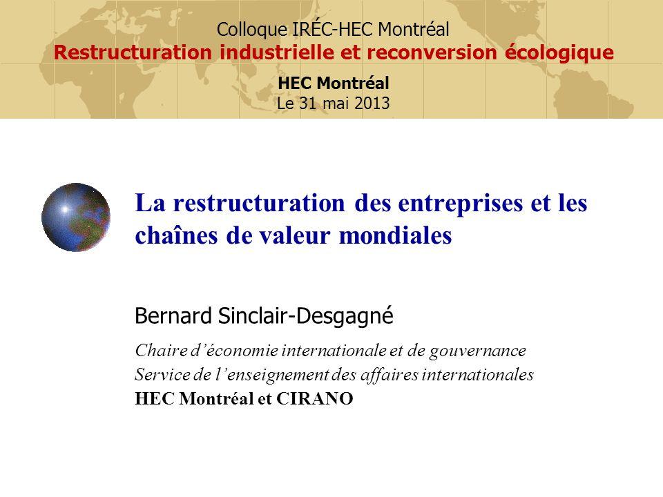 La restructuration des entreprises et les chaînes de valeur mondiales