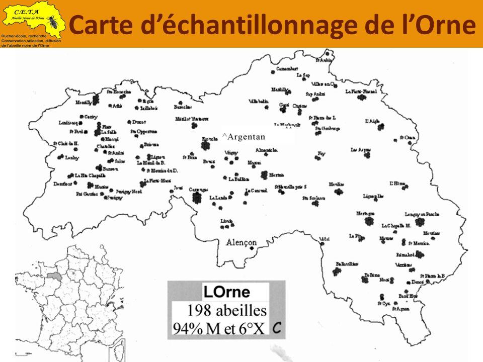 Carte d'échantillonnage de l'Orne