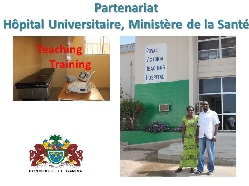 Partenariat Hôpital Universitaire, Ministère de la Santé