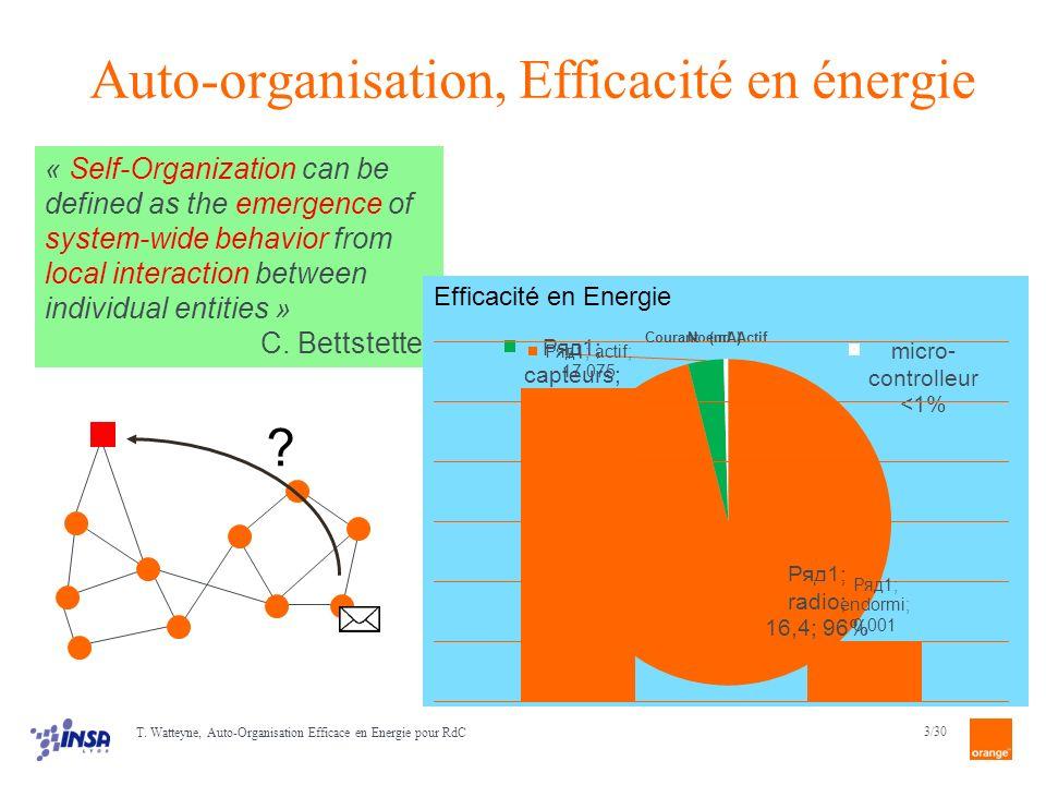 Auto-organisation, Efficacité en énergie