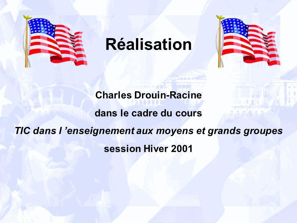 Réalisation Charles Drouin-Racine dans le cadre du cours