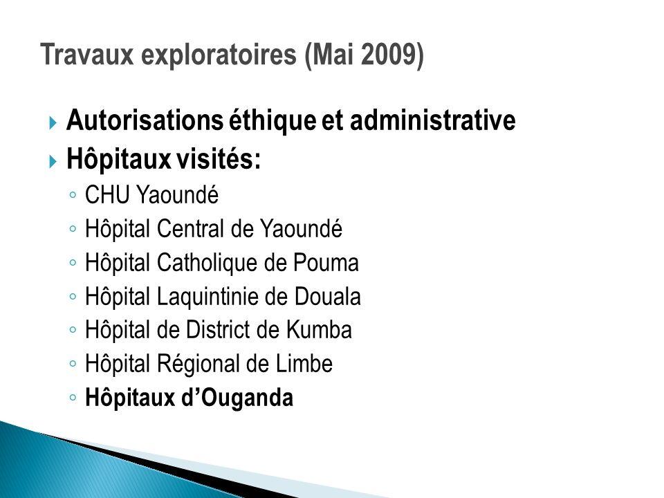 Travaux exploratoires (Mai 2009)