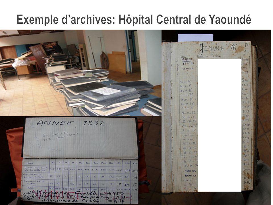 Exemple d'archives: Hôpital Central de Yaoundé