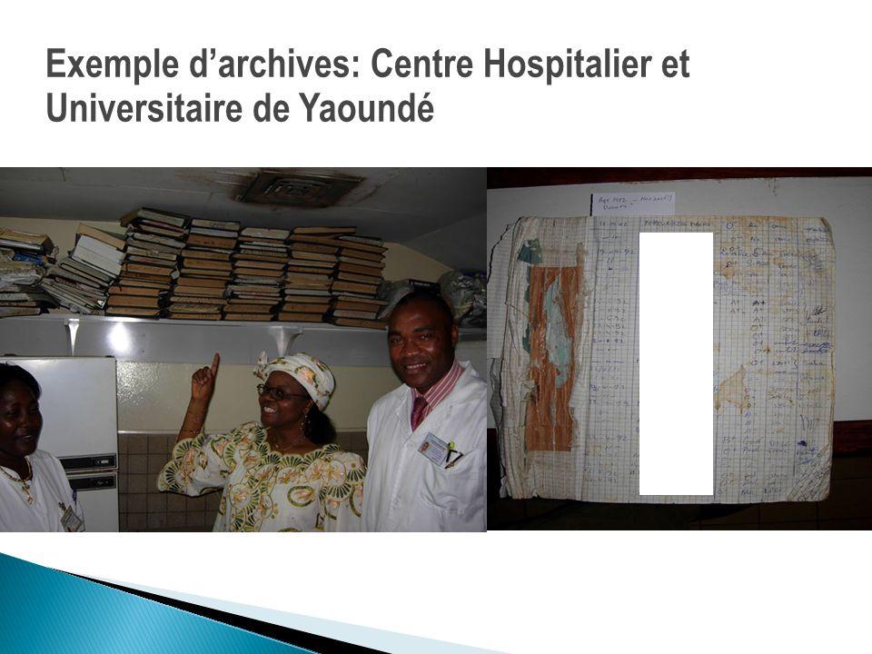 Exemple d'archives: Centre Hospitalier et Universitaire de Yaoundé