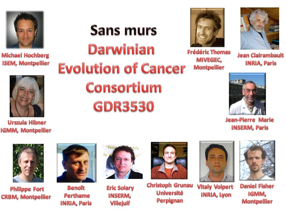 Sans murs Darwinian Evolution of Cancer Consortium GDR3530