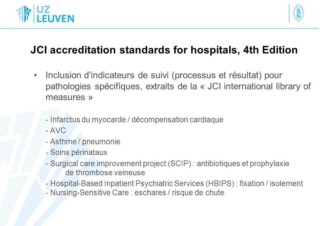 JCI accreditation standards for hospitals, 4th Edition