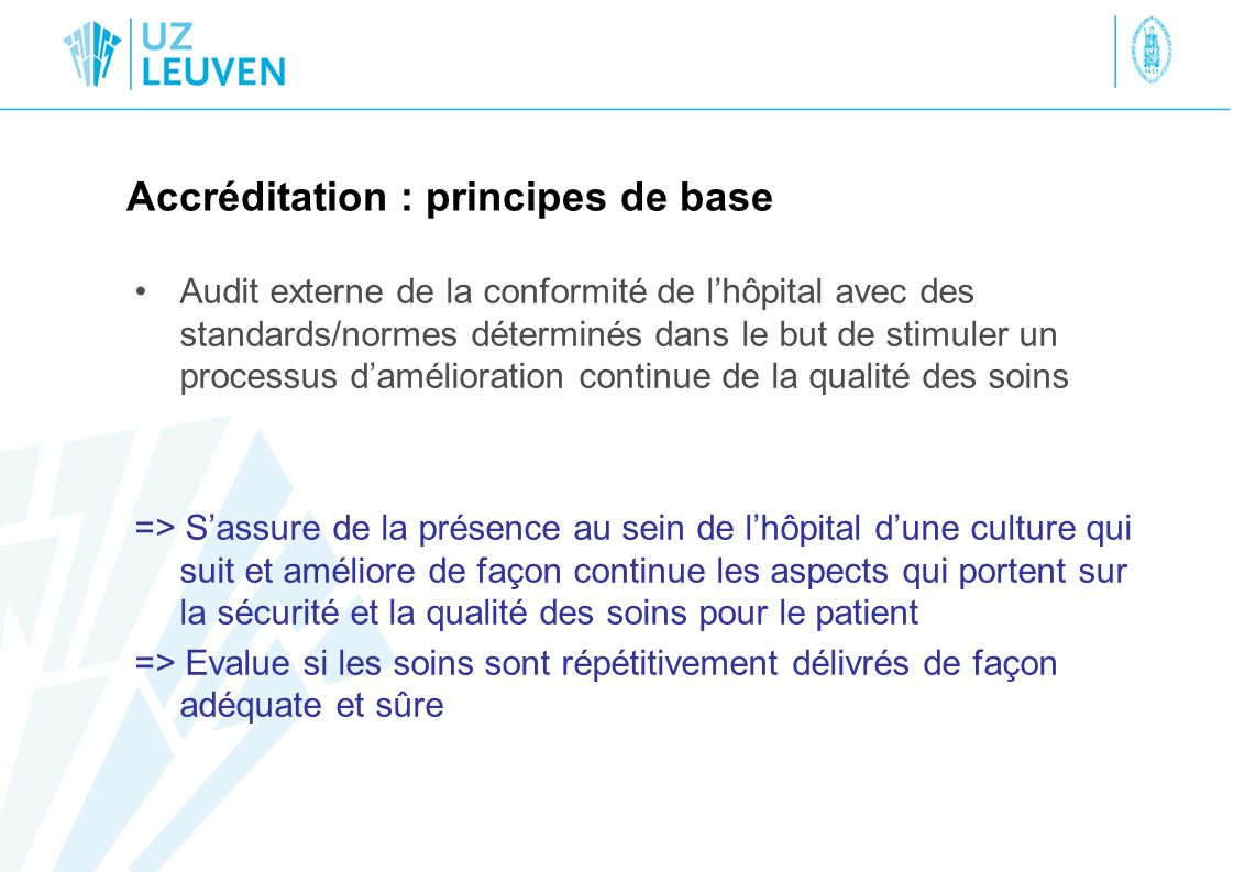 Accréditation : principes de base