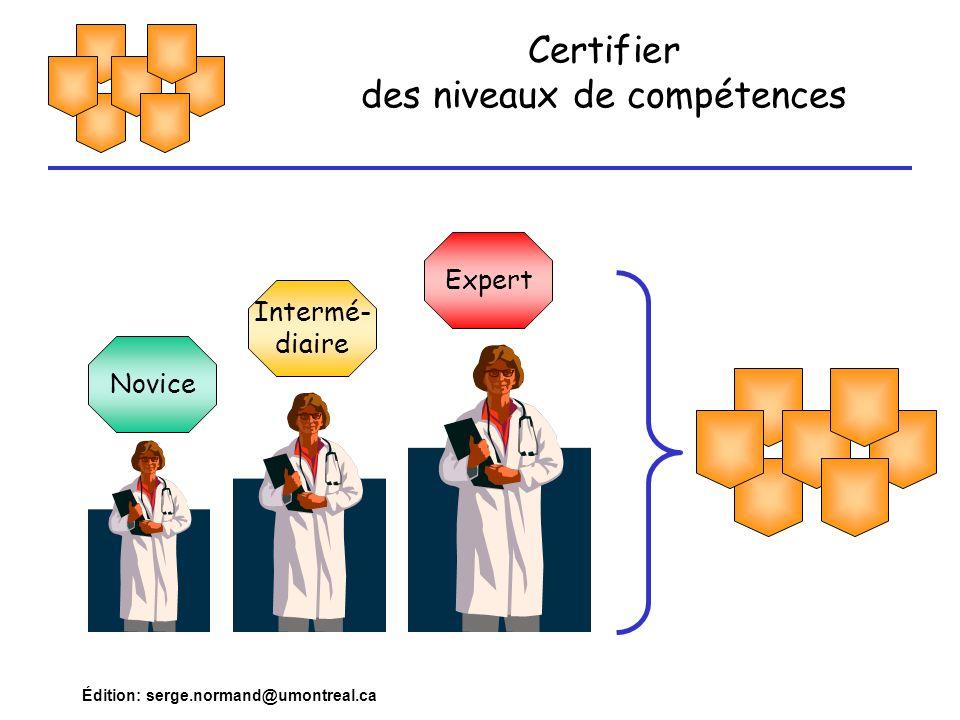 Certifier des niveaux de compétences