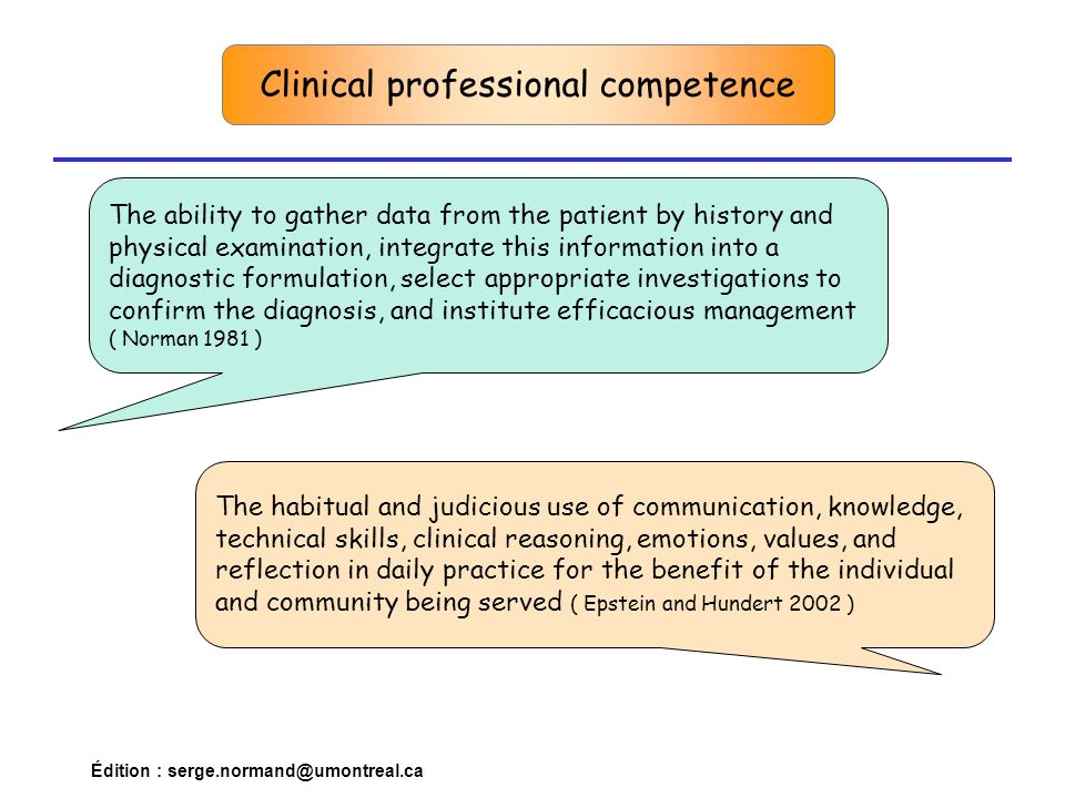 Clinical professional competence