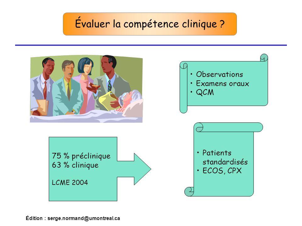 Évaluer la compétence clinique