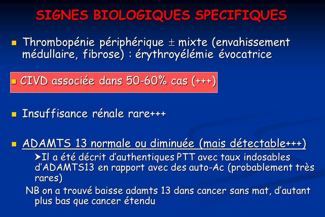 SIGNES BIOLOGIQUES SPECIFIQUES