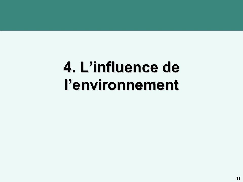 4. L'influence de l'environnement