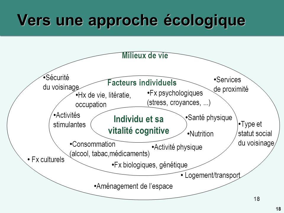 Vers une approche écologique
