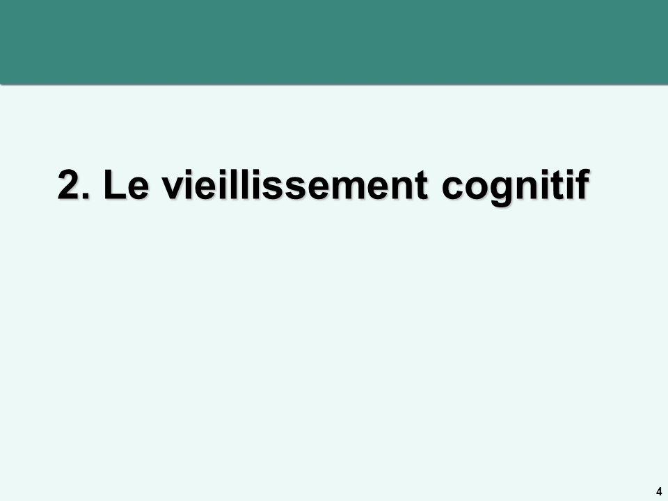 2. Le vieillissement cognitif
