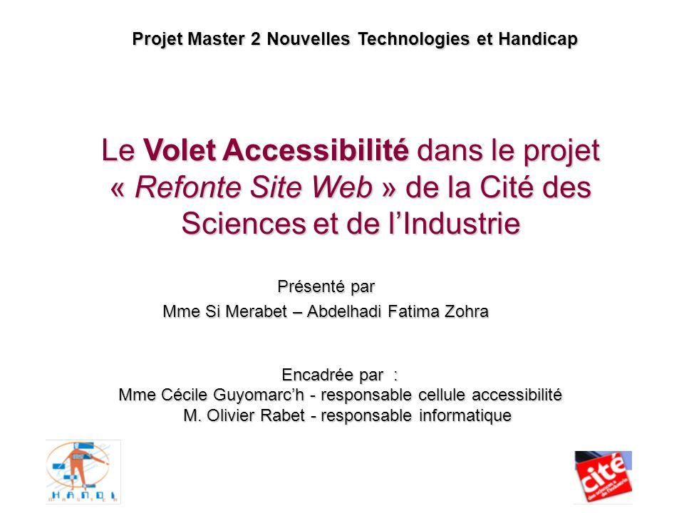 Projet Master 2 Nouvelles Technologies et Handicap