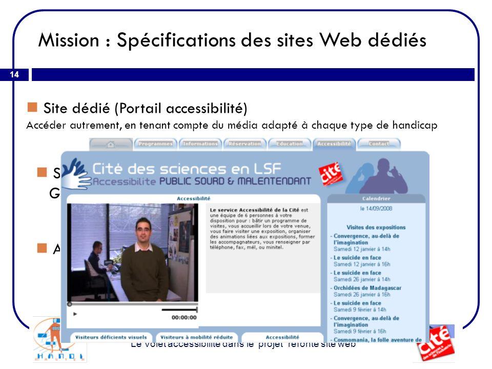 Le Volet accessibilité dans le projet refonte site web