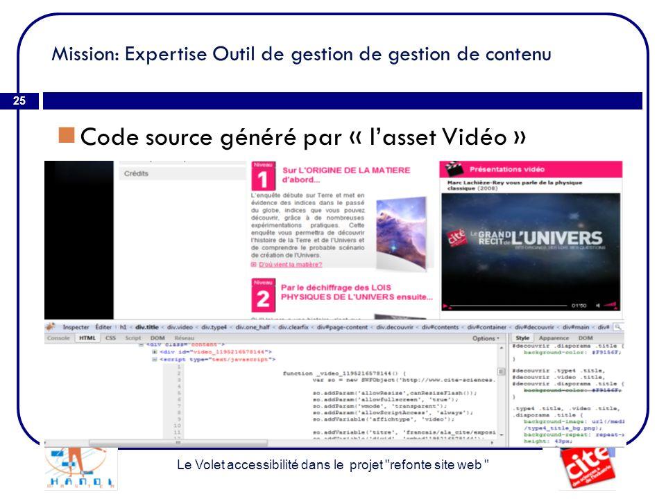 Mission: Expertise Outil de gestion de gestion de contenu
